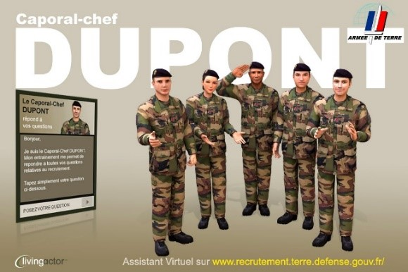 French Army Recruits People Using a Virtual Soldier